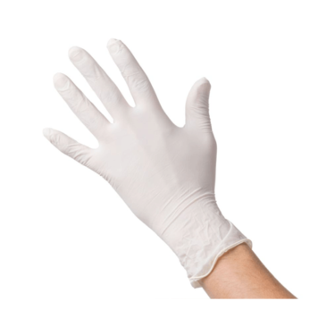 Γάντια λάτεξ με πούδρα μιας χρήσης (100 τεμάχια)