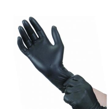 Γάντια μαύρα νιτριλίου χωρίς πούδρα Filoskin (100 τεμάχια)