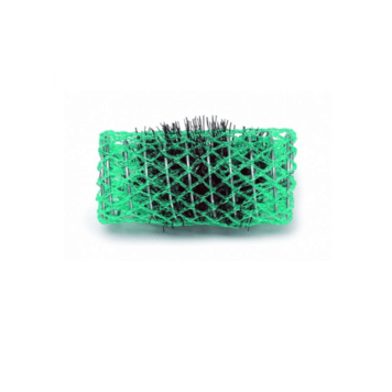 Ρολό μαλλιών πράσινο 30mm συρμάτινο με τρίχα 29339