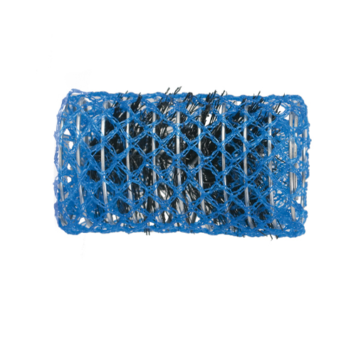 Ρολό μαλλιών μπλε 50mm συρμάτινο με τρίχα