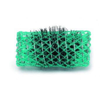 Ρολό μαλλιών πράσινο 45mm συρμάτινο με τρίχα