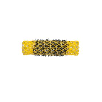 Ρολό μαλλιών κίτρινο 17mm συρμάτινο με τρίχα 29336
