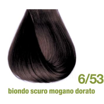 Βαφή χωρίς αμμωνία 6/53 ξανθό σκούρο ζεστό σοκολατί