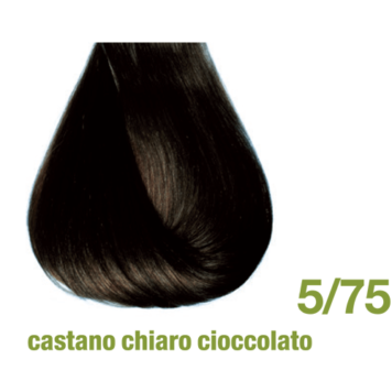 Βαφή χωρίς αμμωνία 5/75 καστανό ανοιχτό σοκολατί ακαζού