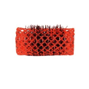 Ρολό μαλλιών κόκκινο 40mm συρμάτινο με τρίχα 29341