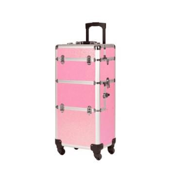 Βαλιτσάκι αισθητικής- κομμωτικής ροζ περλέ NDed