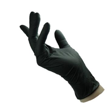 Γάντια μαύρα νιτριλίου χωρίς πούδρα (100 τεμάχια)