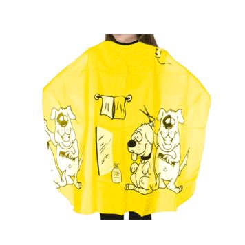 Μπέρτα κουρέματος παιδική με σκυλάκια κίτρινη