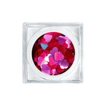 Glitter αυτοκόλλητα νυχιών καρδιές