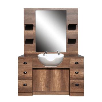 Λουτήρας λευκός με καθρέφτη Hairway Barry