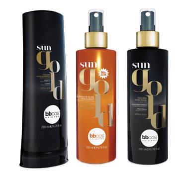 Σετ αντηλιακά μαλλιών Sun gold BBcos 3 τεμάχια