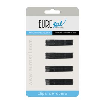 Τσιμπιδάκια μαλλιών μαύρα Eurostil 01609/50