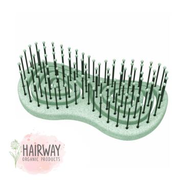 Οργανική βούρτσα χωρίς λαβή Hairway πράσινη
