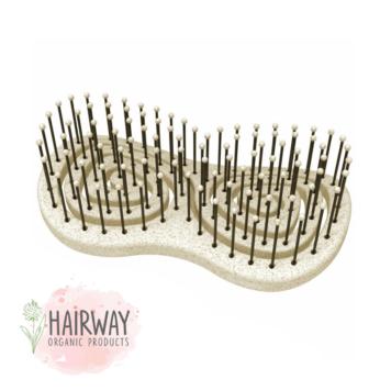 Οργανική βούρτσα χωρίς λαβή Hairway μπεζ